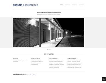 brauns architektur webseite